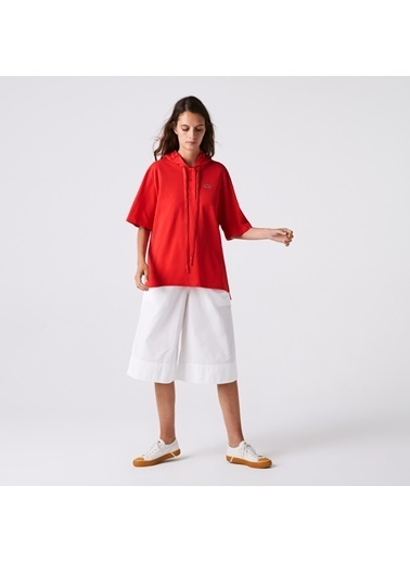 Lacoste Kadın Kapüşonlu Tişört PF8046.4BY Kırmızı